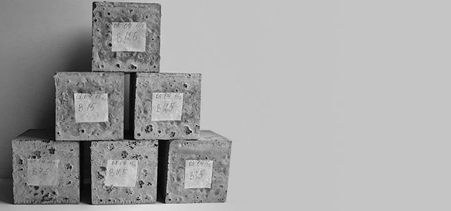 Лабораторные образцы бетона